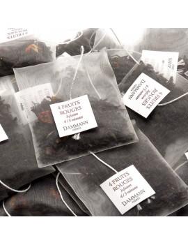 4 FRUITS ROUGES - Boite de 25 sachets cristal la brûlerie le Puy en Velay