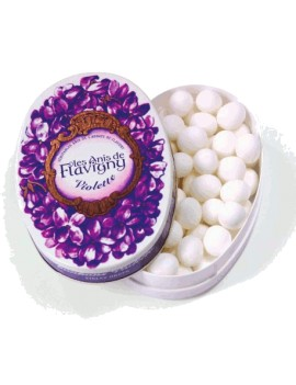 Boîte ovale Anis de Flavigny - Violette 50g la brûlerie le Puy en Velay