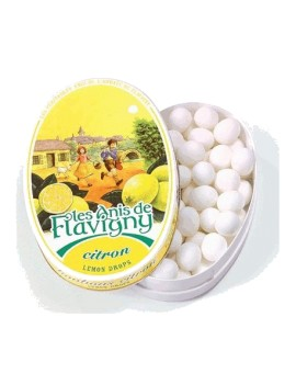 Boîte ovale Anis de Flavigny - Citron 50g la brûlerie le Puy en Velay