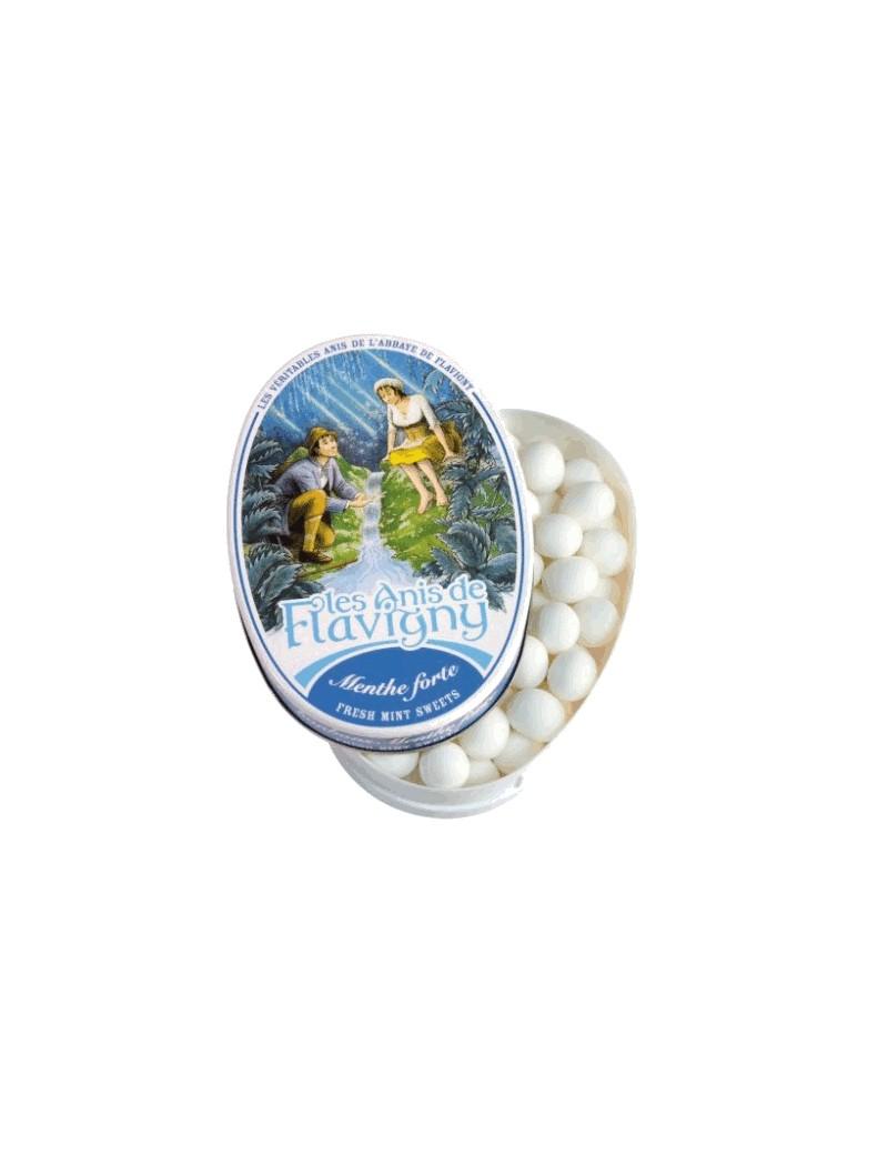 Boîte ovale Anis de Flavigny - Menthe 50g la brûlerie le Puy en Velay