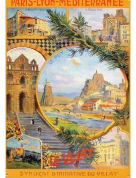 """Plaque Métal """"Le Velay"""" la brûlerie le Puy en Velay"""