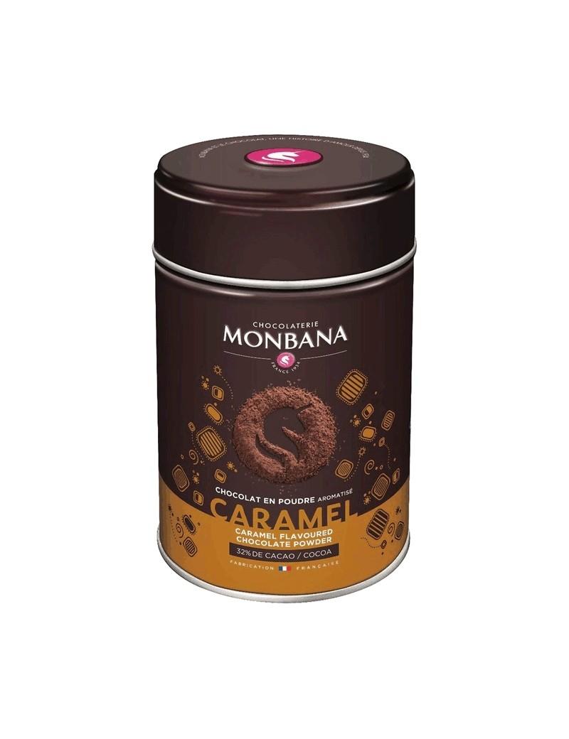 Chocolat en poudre aromatisé Caramel - Boîte 250g la brûlerie le Puy en Velay