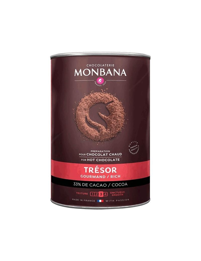 """Chocolat en poudre onctueux """"Trésor de Chocolat"""" - Boîte 1 kg la brûlerie le Puy en Velay"""